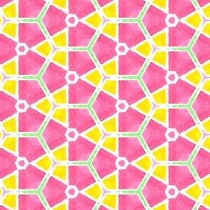 Windmills Geometric Water Color Kaleidoscope