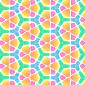 Optimism Geometric Water Color Kaleidoscope