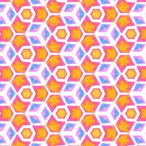 Sea Anemone   Geometric Water Color Kaleidoscope