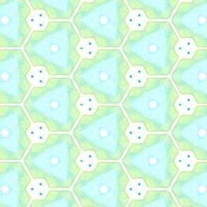Spring Startings Geometric Kaleidoscope Water Color