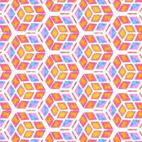 Bright Geometric Kaleidoscope
