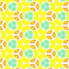 Citrus Kaleidoscope Geometric Watercolor