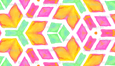 Interlocking Wheels of the Mind Geometric Watercolor