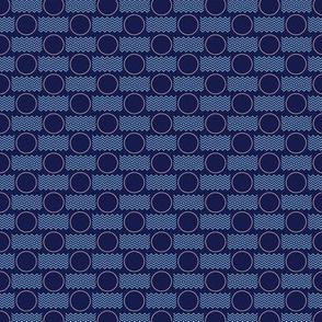 Postmarked* (Jackie Blue & Sailor) || postal service snail mail postmark letter airmail par avion geometric polka dot wave