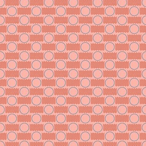 Postmarked* (Peach Halves) || postal service snail mail postmark letter airmail par avion geometric polka dot wave