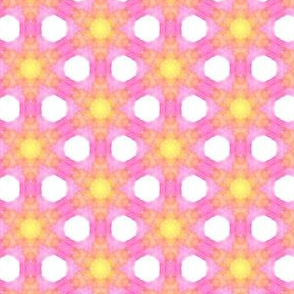 Pink and Yellow Dreaming WaterColor Painting Pattern