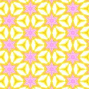 Pink and Yellow Spring Water Color Painting Pattern