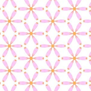 Pink Daisy Water Color Painting Pattern