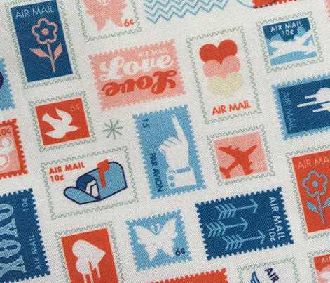 Book of Stamps* (Tomato Soup & Popeye) || postal service snail mail postmark letter airmail par avion geometric wave heart love butterfly envelope special delivery star starburst