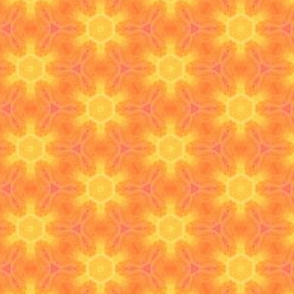 Star Suns Water Color Painting Pattern