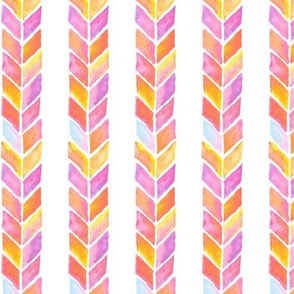 Watercolor Chevron Lines WaterColor Painting Pattern