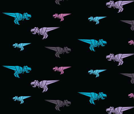 Tilly Talulah & Tabitha Trex fabric by thepoonapple on Spoonflower - custom fabric