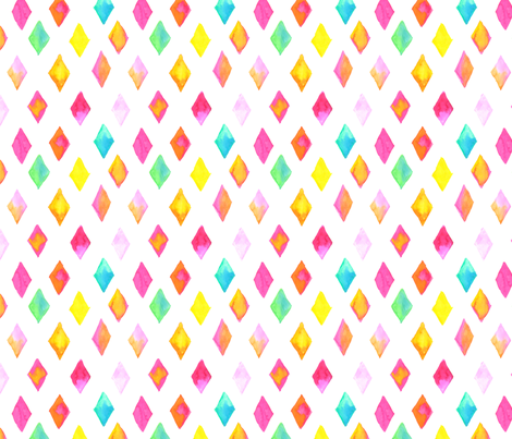 Water Color Diamonds Hand Painted Pattern fabric by hidesysfabric on Spoonflower - custom fabric