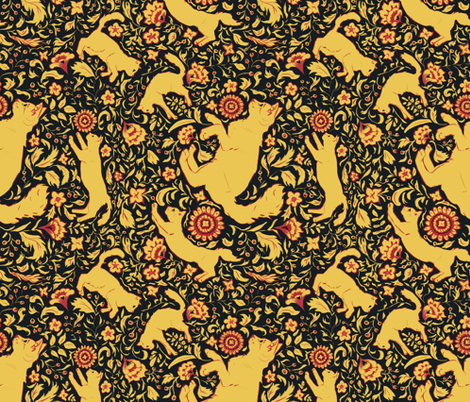 Kokhlama Cat fabric by mycolour on Spoonflower - custom fabric