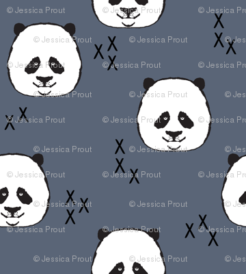 panda // dark blue