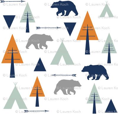bear camp // orange