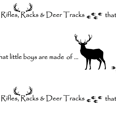Rifles, Racks & Deer Tracks // crib sheet fabric by buckwoodsdesignco on Spoonflower - custom fabric