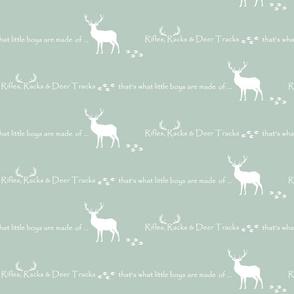 Rifles, Racks & Deer Tracks // crib sheet - sage