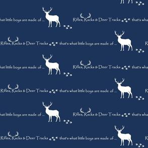 Rifles, Racks & Deer Tracks // crib sheet - midnight
