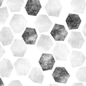 White Wash Abstract Hexagons