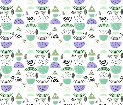 Swell - Mint fabric by ginamayes on Spoonflower - custom fabric