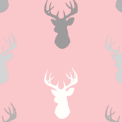 Deer- Pink/grey-Meadow Sunrise