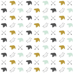 Bear and Arrows // Woodland Collection