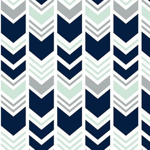 Northern Lights Chevron // Navy/Mint/Grey