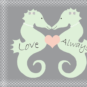 Panel Seahorse Wedding Lesbian Couple