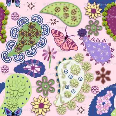 Paisley II - Pink