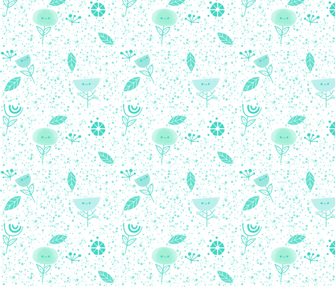 Fancy - Teal fabric by ginamayes on Spoonflower - custom fabric