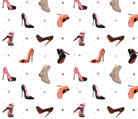 Cute shoes_BOOTS fabric by lsk235 on Spoonflower - custom fabric