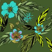 Floridian Aloha Olive Turquoise