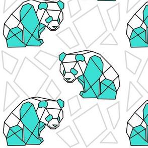 Geometric Mint Panda