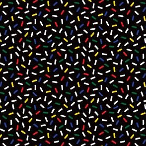 Postmodern Primary Christmas Bulb Sprinkles