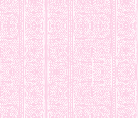 Mudcloth mudcloth african white on pink fabric by jenlats on Spoonflower - custom fabric