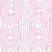 pink mudcloth mud cloth on white