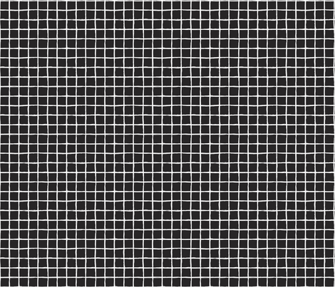 Abstract geometric lines black and white checkered stripe trend pattern grid XS fabric by littlesmilemakers on Spoonflower - custom fabric