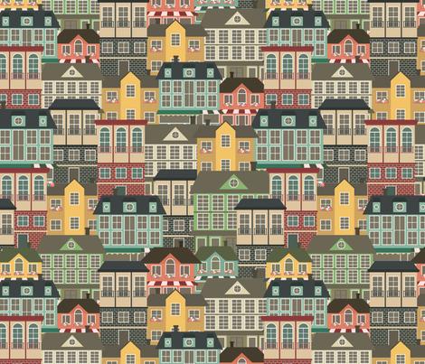 City life fabric by juliabadeeva on Spoonflower - custom fabric