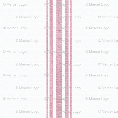 Pink French Ticking Stripe Feed sack Grain sack Cottage Stripe