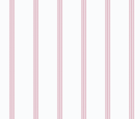 Pink French Ticking Stripe Feed sack Grain sack Cottage Stripe fabric by jenlats on Spoonflower - custom fabric