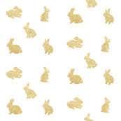 Gold glitter easter bunnies