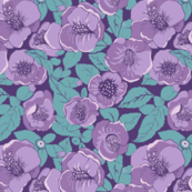 Ultraviolet  Purple Floral  garden,