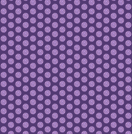 Purple polka dot // lilac and purple spot fabric by magentarosedesigns on Spoonflower - custom fabric
