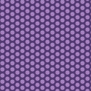Purple polka dot // lilac and purple spot