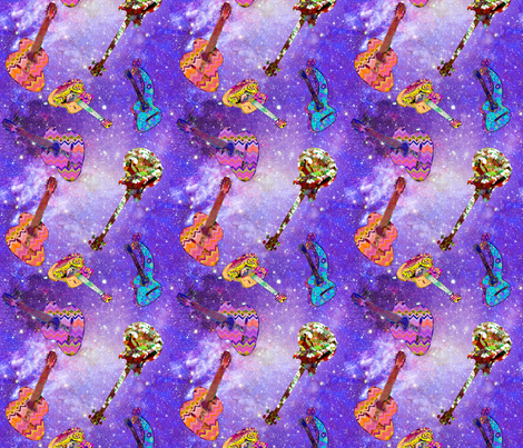 SKY GUITARS PURPLE fabric by paysmage on Spoonflower - custom fabric