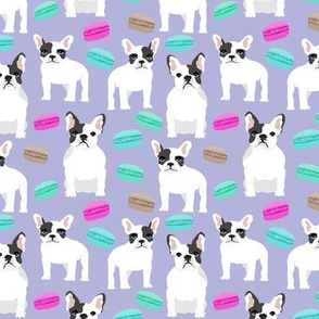 french bulldog frenchie frenchies bulldogs purple pastel sweets macarons french bakery pastries macaron girls cute puppy dog pet dogs pet frenchies
