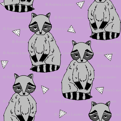 raccoon // raccoons sweet little woodland creature baby animal lilac purple pastel girls sweet raccoon