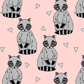 raccoon // pink raccoons sweet little animal woodland baby pink girls