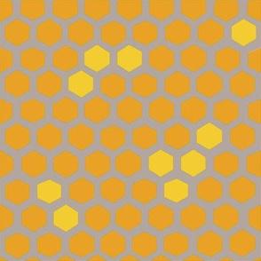 Hex spots in honey